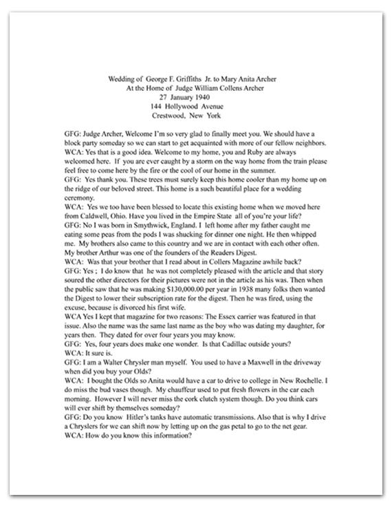 Memoir page as provided