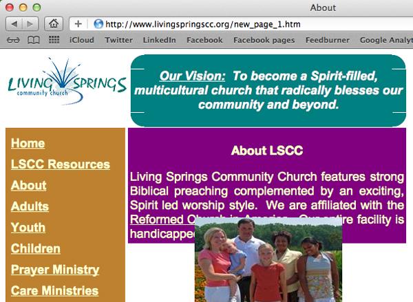 Living Springs website 2011