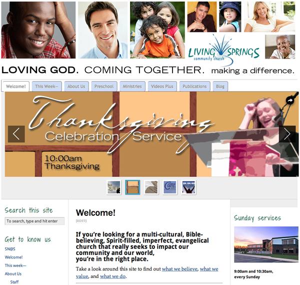 Living Springs website 2012