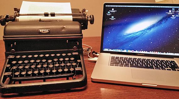 Typewriter and Mac